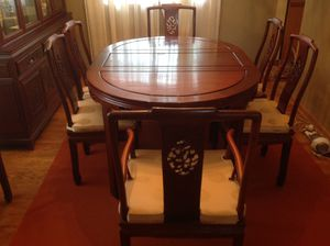 Rosewood dining room table with 8 Chairs for Sale in Arlington Heights, IL