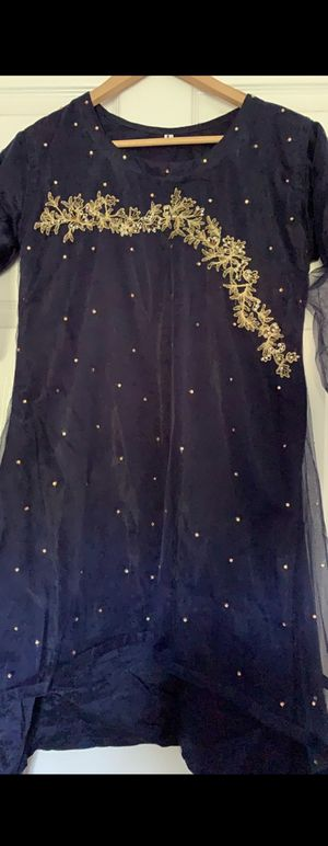 Blue fancy dress(PAKISTANI) 3 piece for Sale in Dulles, VA