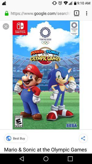 Mario sonic Olympics for Sale in Edgewood, WA