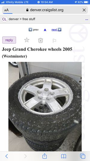 Jeep wheels and rims 5x127 bolt pattern 145/65/17 for Sale in Westminster, CO