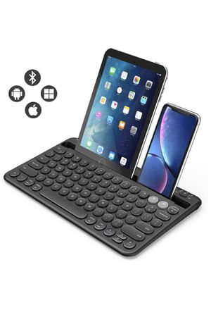 Multi-device Bluetooth Keyboard , Jelly Comb Rechargeable Wireless Bluetooth. for Sale in Kansas City, MO