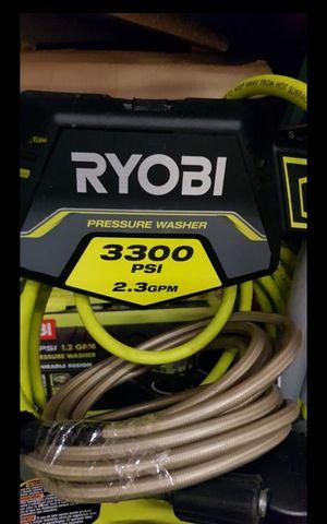 RYOBI GAS 3300 PSI PRESURE WASHER WITH HONDA ENGINE LIKE NEW for Sale in San Bernardino, CA