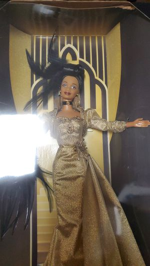 Golden Hollywood Barbie Doll MGM 75 Years Film AA African American FAO Schwarz for Sale in Centerburg, OH