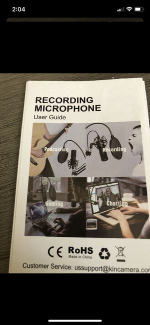 Rohs recording microphone for Sale in Laveen Village, AZ