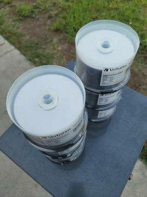 Verbatim DataLifePlus 8x 4.7GB White Inkjet Printable DVD-R - 50 Disc-$18. Each.. for Sale in Rosemead, CA
