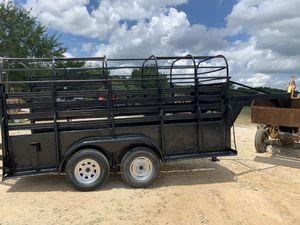 14 ft gooseneck stock trailer , registered farm trailer. Solid floor for Sale in Hockley, TX