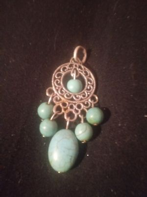 Silver and turquoise charm for Sale in Wichita, KS