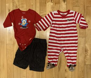 Boys sz 3 months Winter Outfit & Sleeper for Sale in Aurora, IL