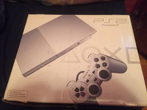 PS2 Silver Complete with Controller original box and original wires for Sale in Brooklyn, NY