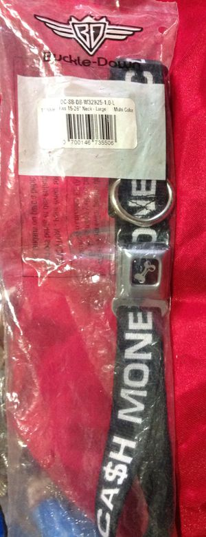 """BUCKEL-DOWN DOG COLLAR FIT 15-26"""" (CA$H MONEY) LARGE. NEW IN Original Package for Sale in Nashville, TN"""