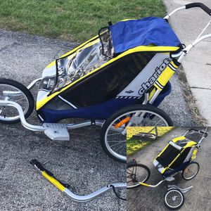 Chariot Cougar Double Bike Trailer or Jogging Stroller for Sale in Aurora, IL