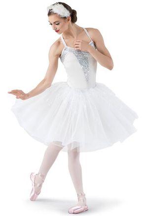 White Swan Dance Ballet Prom Costume Dress Feather Hair piece headband Halloween Tutu Leotard White XS Women for Sale in Vancouver, WA
