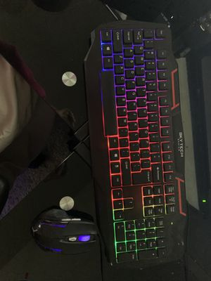SkyTech rainbow led lights on keyboard and mouse for Sale in South Portland, ME