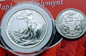 2018 Silver Britannia *Oriental Border, & 1962 Silver 50¢ for Sale in Dalton, MA