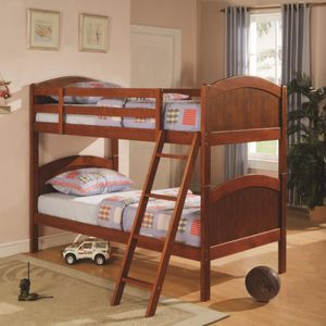 Twin over twin wood bunk bed for Sale in Seattle, WA