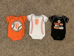 Giants onesie all size 0-3 months. All 3 for $10 for Sale in Martinez, CA