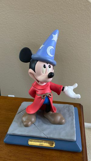 1994 official Disneyana convention Walt Disney World Resort Mickey Mouse Sorcerer's apprentice by Marc Delle resin statue figurine limited edition of for Sale in San Diego, CA