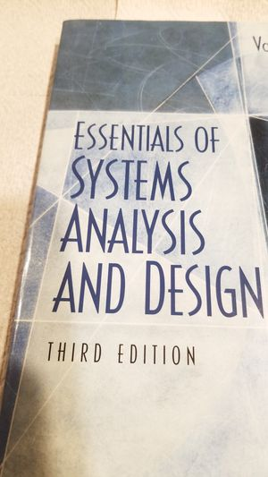 Essentials of System Analysis and Design 3rd Edition for Sale in Silver Spring, PA