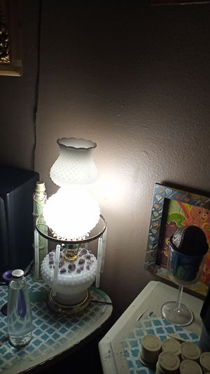 Antique lamp with amathys cristals for Sale in Santa Maria, CA