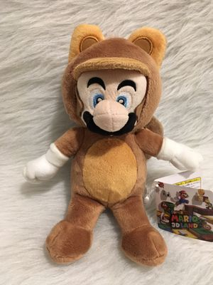 "Super Mario 3D Land Rare Exclusive Tanooki 9"" Plush for Sale in Beaverton, OR"
