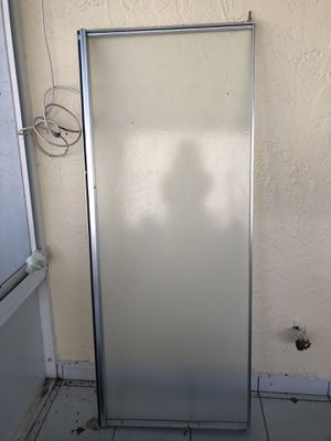 Shower door 57.5 inches high 22.5 inches wide for Sale in Boynton Beach, FL