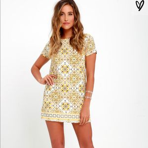 Lulus Dandy Lion Yellow Print Dress for Sale in Los Angeles, CA