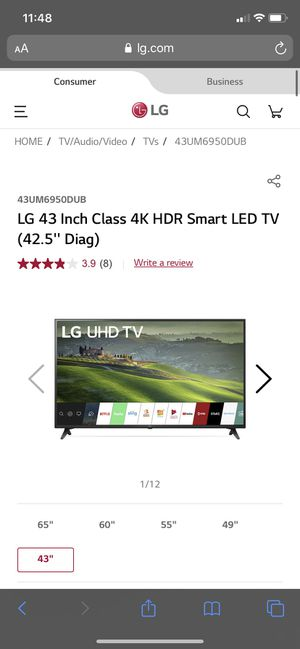 "LG 4K 43"" TV for Sale in SeaTac, WA"