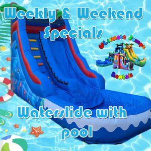 Waterslide party parties birthday jumper book me for Sale in Fontana, CA