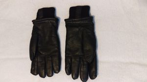 Genuine leather motorcycle riding gloves all season unisex Size Medium Black for Sale in Austin, TX