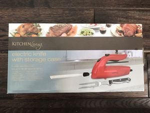 Kitchen Living Electric Knife with Storage Case for Sale in North Potomac, MD