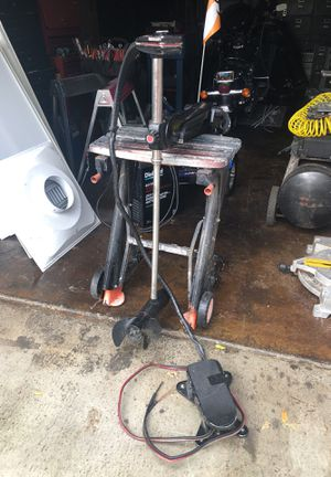 Mercury thruster plus trolling motor and foot pedal 450.00 for Sale in Poway, CA