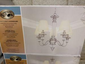 Hampton bay 5 light chandelier new for Sale in Inglewood, CA