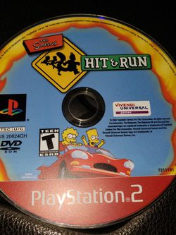 The Simpsons Hit And Run, Playstation 2, Ps2 for Sale in Pataskala,  OH