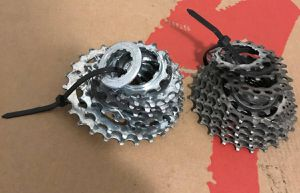 Campagnolo 8 speed Cassette & Shimano Hyperglide 9 speed cassette chain Wheelset for Sale in New York, NY