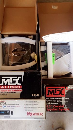 Black mtx audio 6.5 coaxial speaker with box for Sale in Chula Vista, CA
