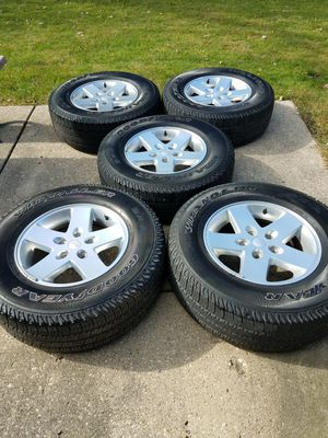 RIMS WHEEL. 2015 Jeep Wrangler. TIRES 60% for Sale in Elgin, IL