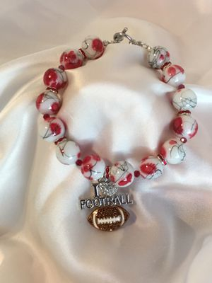 I love football charm bracelet for Sale in Bloomingdale, GA