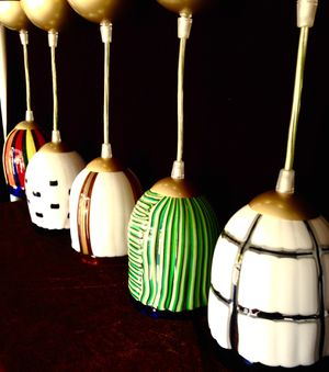 handcrafted Venetian Murano Glass hanging lamps H6 x W4 1/2 inch for Sale in Chandler, AZ