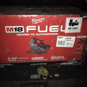 M-18 Milwaukee Fuel Chopsaw with high output battery 8.0 XC $500 OBO for Sale in Pleasant Hill, CA