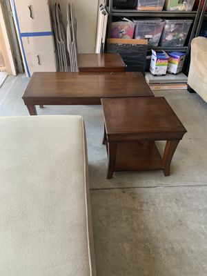 Sofa & loveseat 200$ coffee table 2 end tables 100$ and two lamps 20$both. Take all 300$ for Sale in Escondido, CA