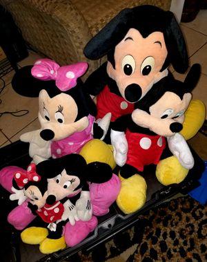 Vintage Disney Mickey & Minnie Mouse stuffed animals for Sale in Orlando, FL