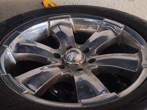 "Wheels and tires p285/50r20 "" 6 lug Silverado Tahoe Yukon suburban escalade avalanche gmc 6x5,5 or 6x139,7 for Sale in Riverside, CA"