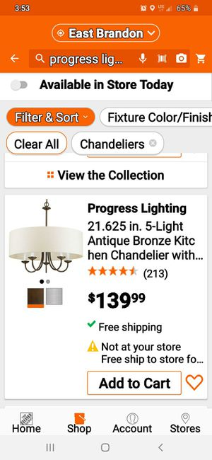 Progress Lightning Chandelier for Sale in Brandon, FL