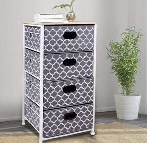 Dresser with storage - metal frame, canvas drawers for Sale in Jersey City, NJ