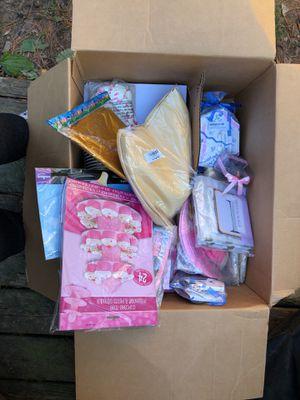 Baby shower light pink and light gold bundle for Sale in Centreville, VA