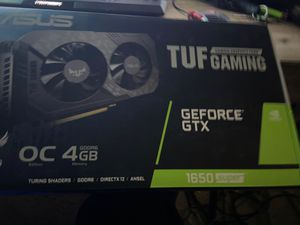 Asus Tuf Gaming GeForce Gtx 1650 Super graphics card (New Less Than 3weeks Of Use ) for Sale in Brandon, FL