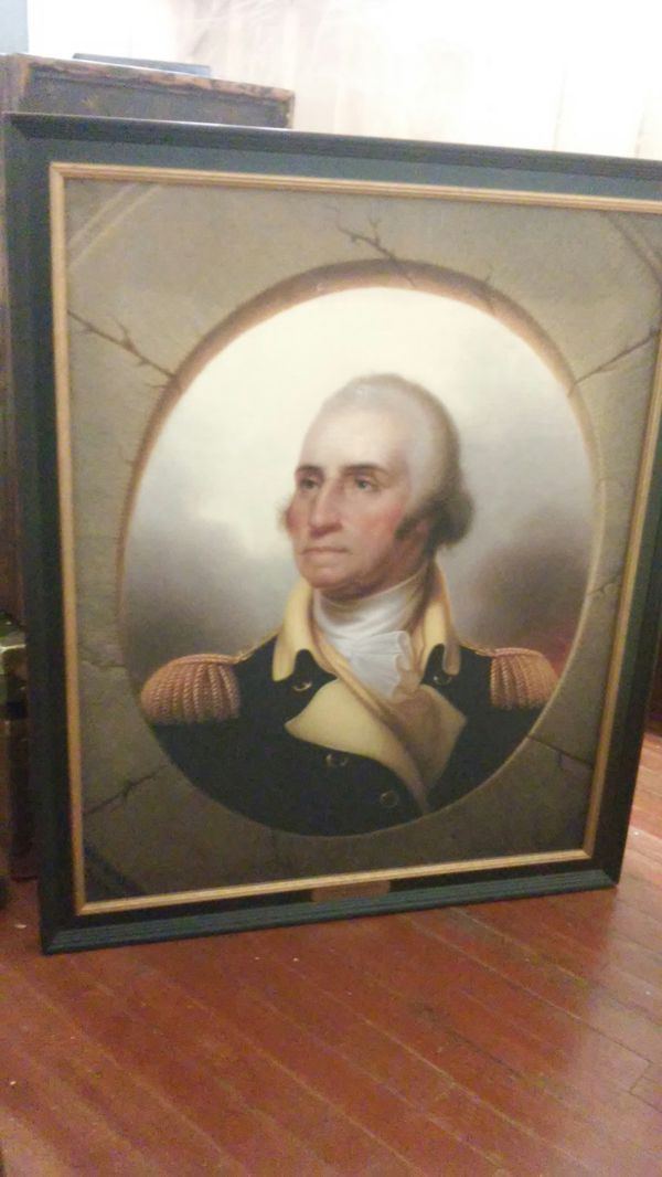"""Art painting by Rembrandt peale 36""""x30"""""""