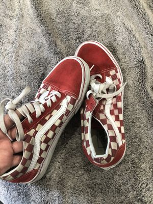 Red checkered vans for Sale in Downey, CA