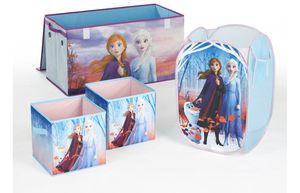 Disney Frozen 2 Kids Anna and Elsa Whole Room Solution Toy Storage Set - Walmart Exclusive (1 Trunk, 1 Hamper, 2 pack storage cubes) for Sale in Edison, NJ