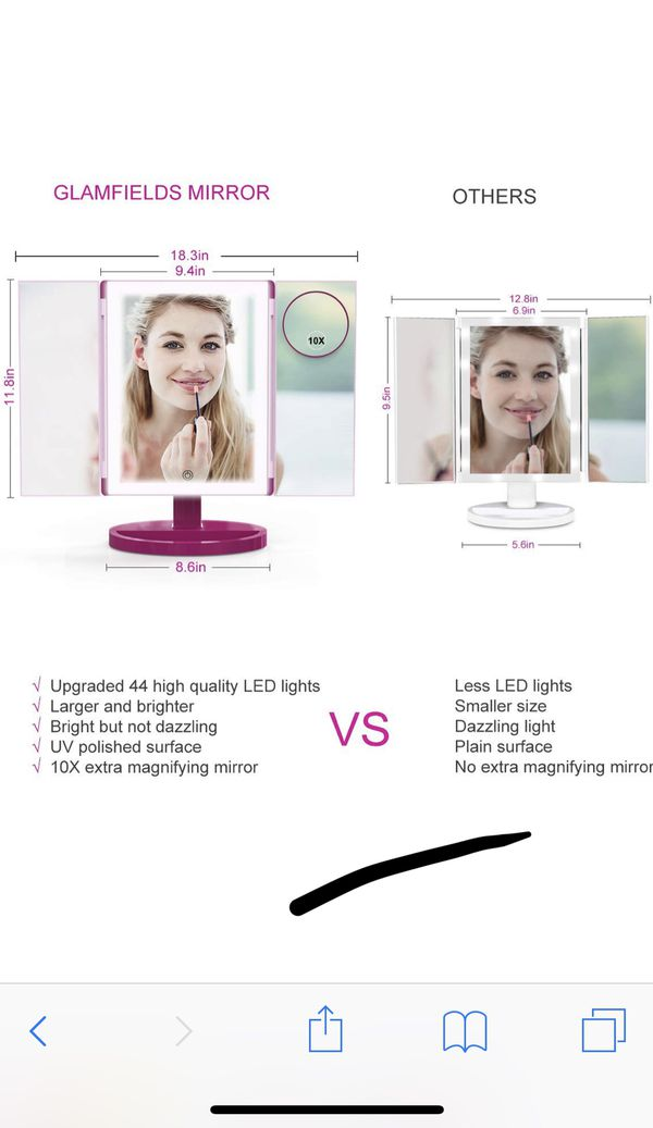 Brand new Makeup Mirror 360° Vanity Mirror with 44 LED Lights, 10X